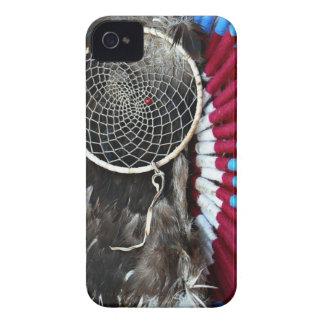 Beautiful Native American Dream Catcher Red Blue iPhone 4 Case-Mate Cases