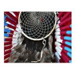 Beautiful Native American Dream Catcher Red Blue Post Cards