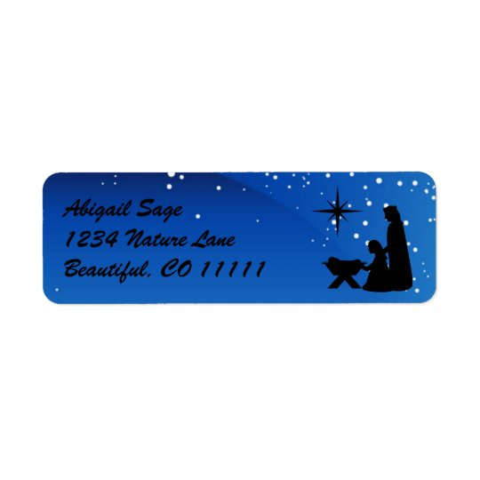 Beautiful Nativity Scene Christmas Address Labels