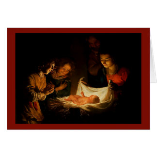 Beautiful Nativity Scene Christmas Card 1620 Image