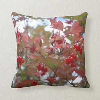 Beautiful Nature Autumn Berries Fall Season Cool Throw Pillow