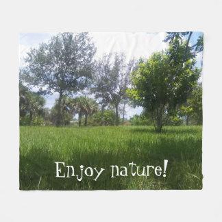 Beautiful Nature Park Picture Fleece Blanket
