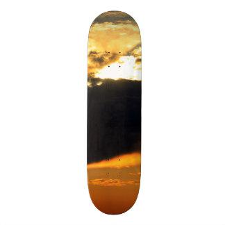 Beautiful Nature Sunset Landscape Photo Skateboard