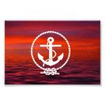 Beautiful nautical Anchor  Sunrise colourful Cloud Art Photo