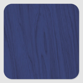 Beautiful Navy Blue Wood Texture Square Sticker