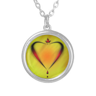 beautiful necklace with heart abstract