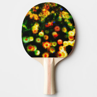 Beautiful Neon Flowers Ping Pong Paddle