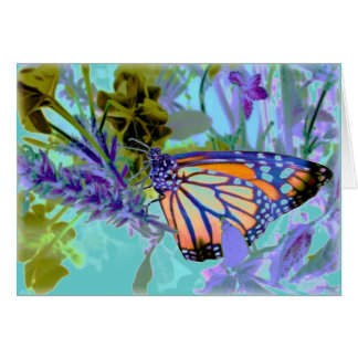 Beautiful Neons Butterfly Card