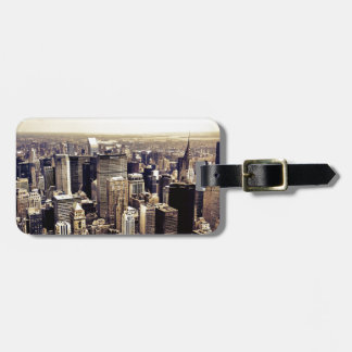 Beautiful New York City Skyscrapers Skyline Luggage Tag