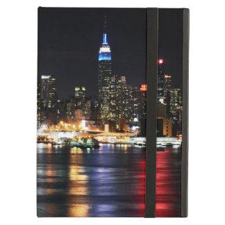 Beautiful New York Night Lights Reflecting River iPad Case