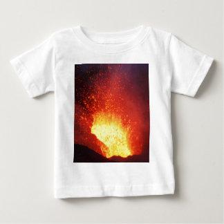 Beautiful night volcanic eruption baby T-Shirt