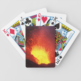 Beautiful night volcanic eruption bicycle playing cards