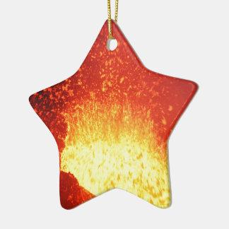 Beautiful night volcanic eruption ceramic star decoration