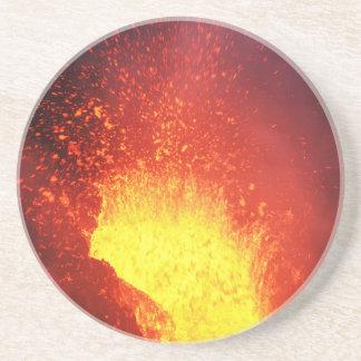 Beautiful night volcanic eruption coaster