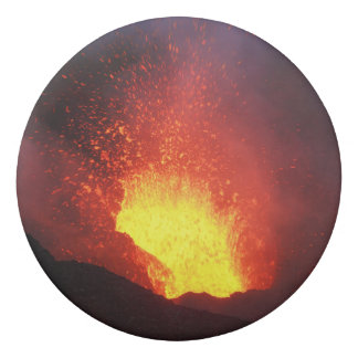 Beautiful night volcanic eruption eraser