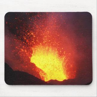 Beautiful night volcanic eruption mouse pad