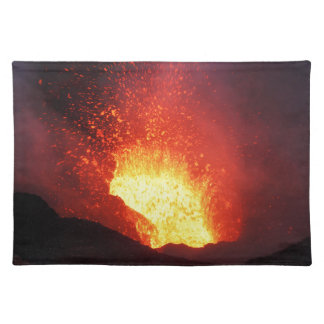 Beautiful night volcanic eruption placemat
