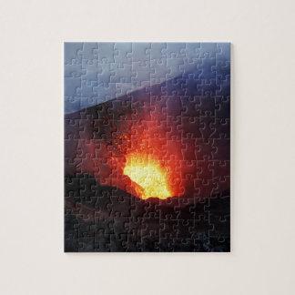 Beautiful night volcanic eruption puzzle