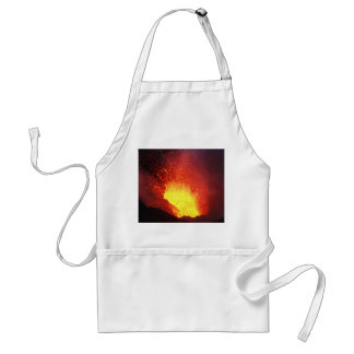 Beautiful night volcanic eruption standard apron