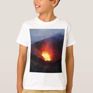 Beautiful night volcanic eruption T-Shirt