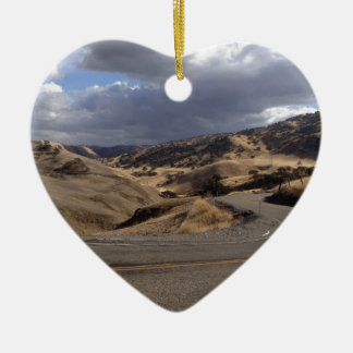 Beautiful Northern California Rolling Hills Ceramic Heart Decoration