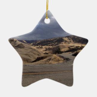 Beautiful Northern California Rolling Hills Ceramic Star Decoration