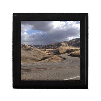 Beautiful Northern California Rolling Hills Small Square Gift Box