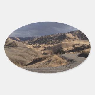 Beautiful Northern California Rolling Hills Oval Sticker