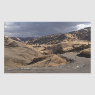 Beautiful Northern California Rolling Hills Rectangular Sticker