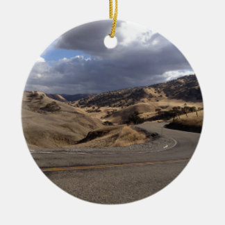 Beautiful Northern California Rolling Hills Round Ceramic Decoration