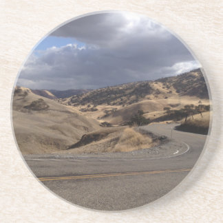 Beautiful Northern California Rolling Hills Sandstone Coaster