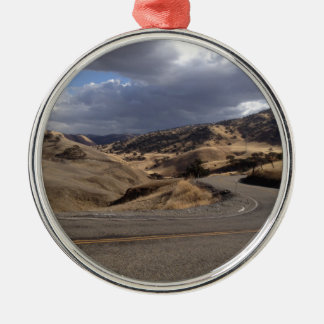 Beautiful Northern California Rolling Hills Silver-Colored Round Decoration