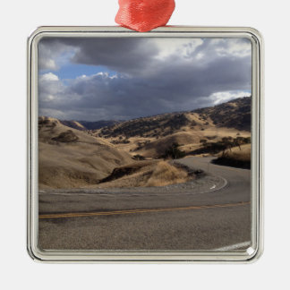 Beautiful Northern California Rolling Hills Silver-Colored Square Decoration