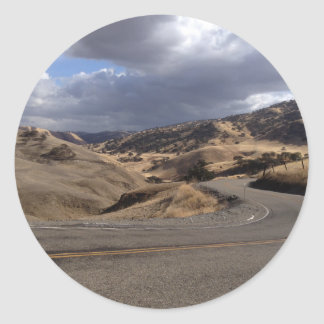 Beautiful Northern California Rolling Hills Round Stickers