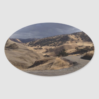 Beautiful Northern California Rolling Hills Oval Stickers