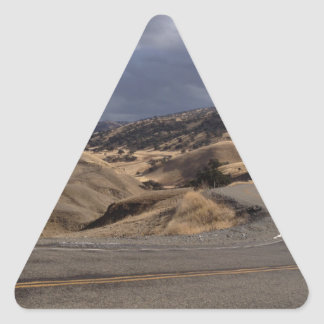 Beautiful Northern California Rolling Hills Triangle Sticker