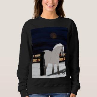 Beautiful Norwegian Fjord Horse in Snow Sweatshirt