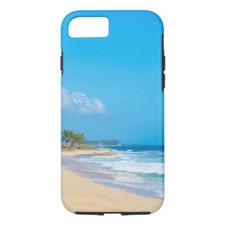 Beautiful ocean beach, gentle waves & blue sky iPhone 8/7 case