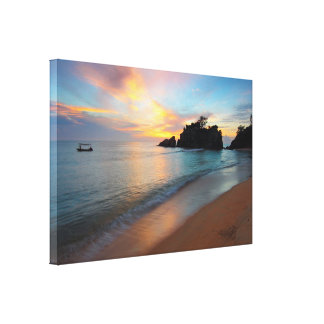 Beautiful Ocean Beachy Scene Wrapped Canvas