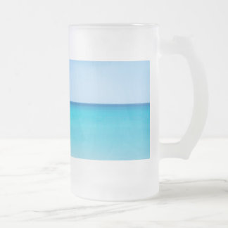 Beautiful Ocean Frosted Glass Beer Mug