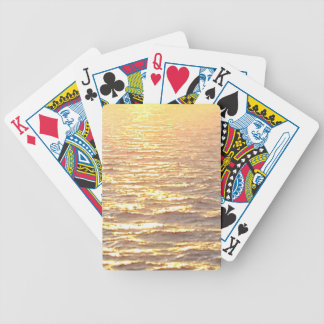 Beautiful Ocean Golden Hour Sunrise Bicycle Playing Cards