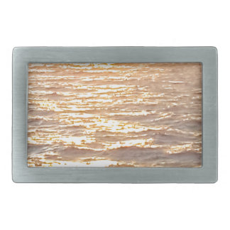 Beautiful Ocean Golden Hour Sunrise Rectangular Belt Buckles