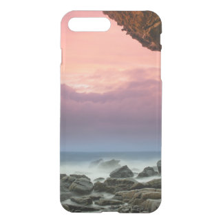 Beautiful ocean pink dusk sky photo hipster beach iPhone 7 plus case