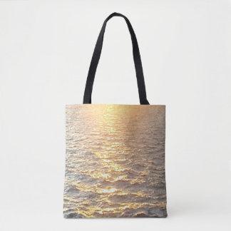 Beautiful Ocean Sunrise Golden Hour Tote Bag