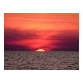 Beautiful Ocean Sunset Postcard