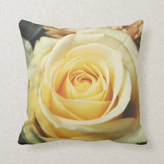 Beautiful Off White Cream Rose Cushion