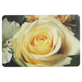 Beautiful Off White Cream Rose Floor Mat