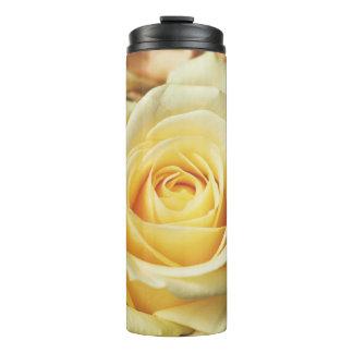 Beautiful Off White Cream Rose Thermal Tumbler