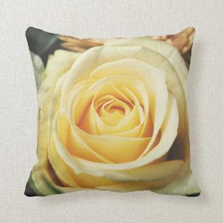 Beautiful Off White Cream Rose Throw Pillow