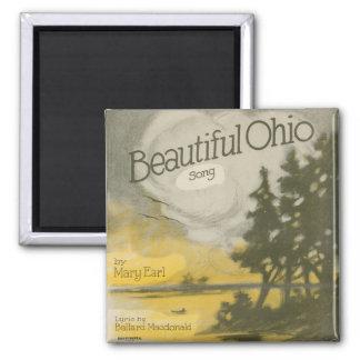 Beautiful Ohio Square Magnet